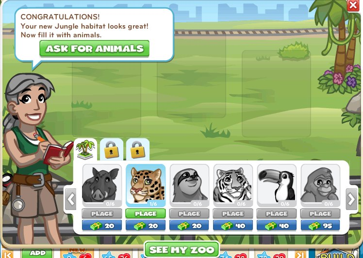 building zoo games
