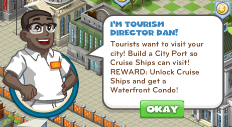 CityVille Cruise Ship Goals
