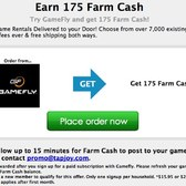 Earn 175 free FarmVille Farm Cash in new GameFly promotion