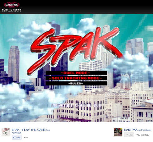 Eastpak Spak main screen