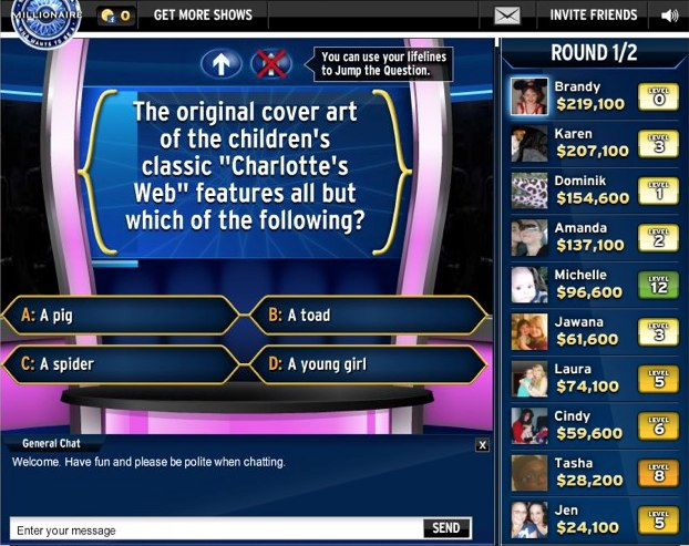 Who wants to be a millionaire game editable