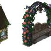 FarmVille Sneak Peek: Garden Trellis Bench, Stone Cottage, Egg Basket and more