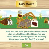 FarmVille Let's Build feature allows for faster use of building materials