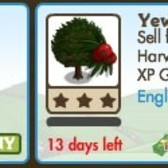 FarmVille LE English Countryside Trees: Oak Tree & Yew Tree