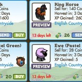 FarmVille LE English Countryside Animals: King Horse, Robin Duck, Pastel Green Ewe & More