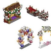 FarmVille Royal Wedding Sneak Peek: Balloon Arch, Cake, Swing, and more