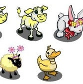 FarmVille Spring Animal Sneak Peek: Yellow Duck, Flower Sheep, Flower Rabbit, &amp