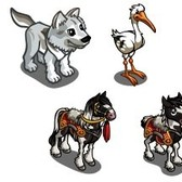 FarmVille Animal Sneak Peek: White Wolf Cub, White Stork, Royal Guard Duck & More