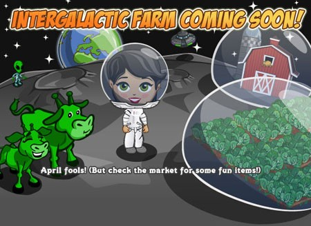 FarmVille April Fools