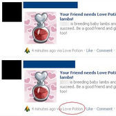 FarmVille Scam Alert: Love Potion News Feed posts are phony
