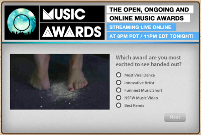 O Music Awards promotion