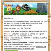 Zynga lures retired FarmVille farmers with 20 free Farm Cash, English Hen