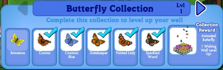 farmville english countryside butterfly collection