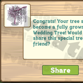 FarmVille: Giant Wedding Tree appearing from Mystery Seedlings