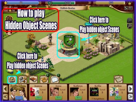 Playdom Gardens of Time Play Hidden Object Scenes