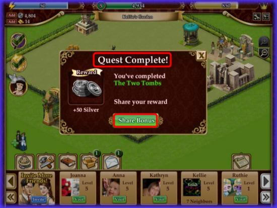Playdom Gardens of Time Quest Complete