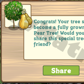 FarmVille: Mystery Seedlings growing into European Pear Trees