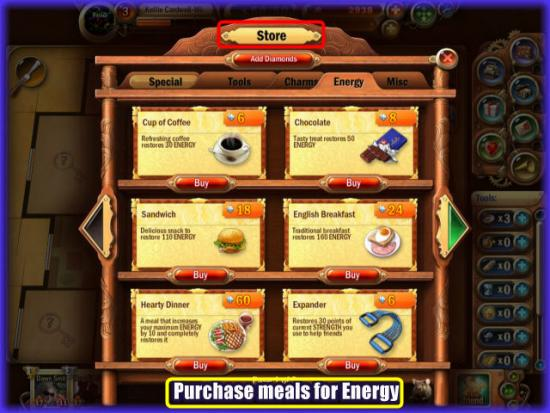 Mystery Manor Energy Meals Store