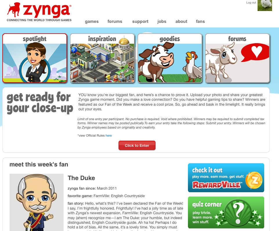 zynga fan army page