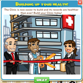 Upgrading the CityVille Emergency Clinic: Everyth