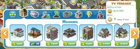 CityVille Housing Upgrade
