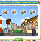 CityVille: Collect from Houses, get random population boosts