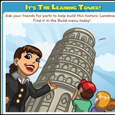 How to build CityVille's Leaning Tower Landmark with your friends