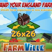 FarmVille: Expand your English farm to 26x26 for Farm Cash
