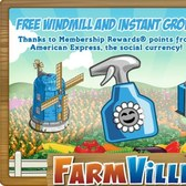 FarmVille American Express Promo: Receive free Instant Grow and send Mystery Gifts to friends