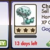 FarmVille GagaVille Items: Chrome Cherry Tree, Purple Disco Sheep, Born This W