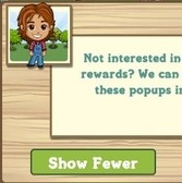 FarmVille: Show fewer pop-ups option removes ability to share trees