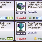 FarmVille GagaVille Items: Crystal Palm Tree, Bedazzled Combine, Bedazzled Gloves and more