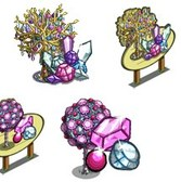 FarmVille GagaVille Sneak Peek: Jewel Trees and Pink Gem Trees