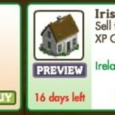FarmVille Irish Decorations: Irish Cottage, Foxglove Flowerbed, Irish Girl Gnome and more