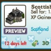 FarmVille Scotland Decorations: Scottish Mansion, Castle Ruins, Lake Nessie and more
