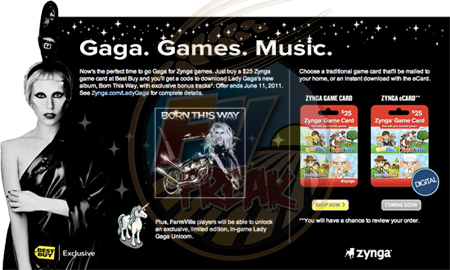 Lady Gaga Best Buy FarmVille