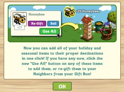 FarmVille Gift Box Use All