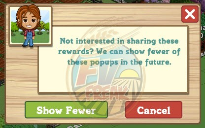 FarmVille Pop-up reductions