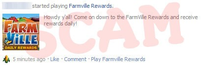 FarmVille Daily Rewards Scam