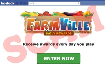 FarmVille Daily Rewards Scam page