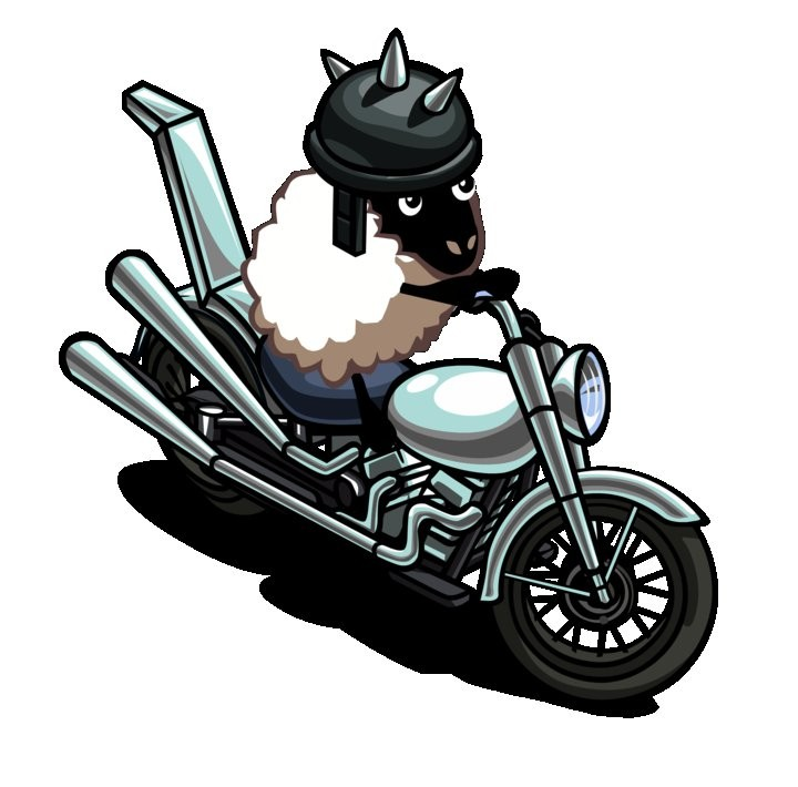 FarmVille Sheep Motorcycle
