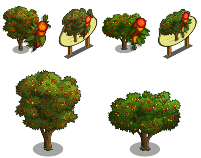 FarmVille Irish Strawberry Tree, Chinese Cherry Tree