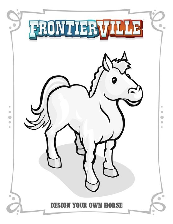 FrontierVille Horse Design