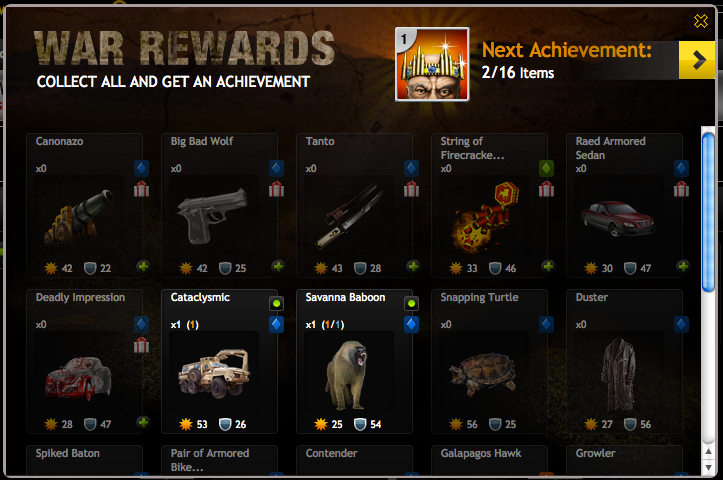 Mafia Wars Declare War Achievements