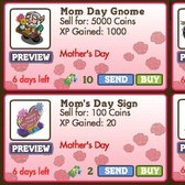 FarmVille Mother's Day Decorations: Dahlia Flowerbed, Mom Day Gnome, Mom's Gift Basket & More