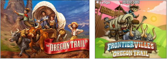 oregon trail vs. frontierville oregon trail