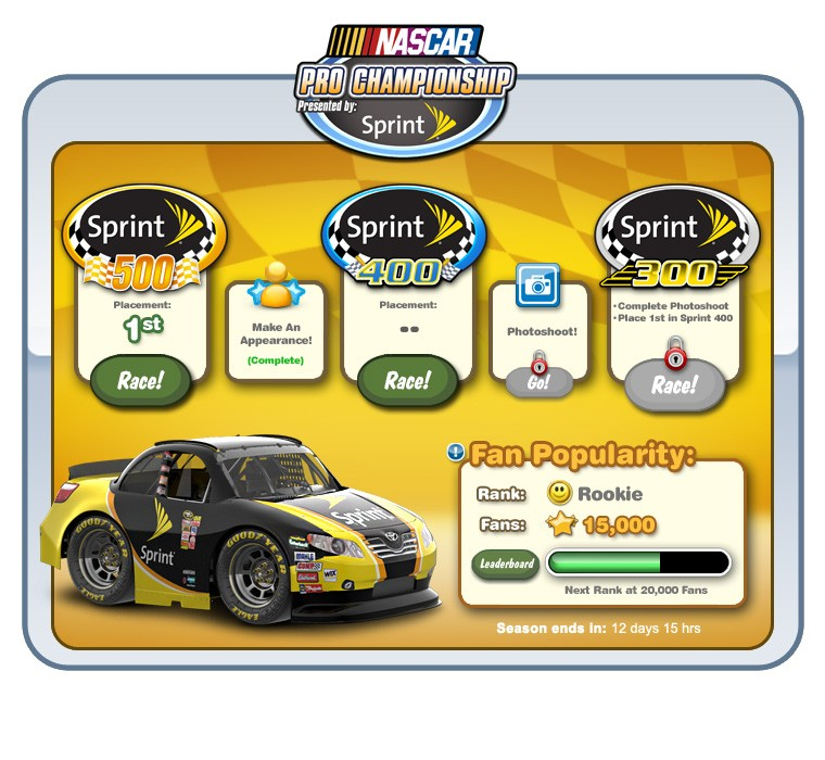 NASCAR turns left on Facebook in Car Town's NASCAR Pro Championship