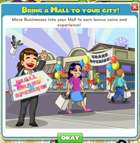 CityVille Malls are here