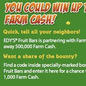 FarmVille / Edy's Fruit Bars Farm Cash Giveaway now live; do you feel lucky?