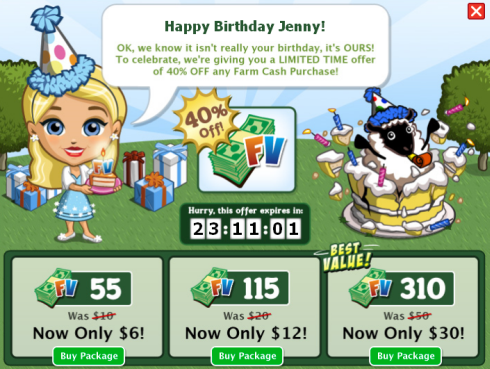 FarmVille 2nd Birthday Farm Cash